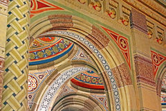 Beautiful patterns on the ceiling in the church of  Chernivtsi University. Western Ukraine, Europe Stock Photography