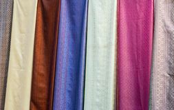 The color of Thai silk royalty free stock photography