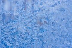 Beautiful patterns on frosty glass Royalty Free Stock Image