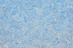 Beautiful patterns on a frozen glass Royalty Free Stock Photo