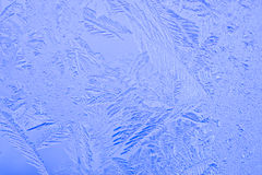 Beautiful patterns on a frozen glass. Of a window Royalty Free Stock Photos