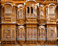 The beautiful Patwon ki Haveli palace made of golden limestone, Jaisalmer, India Royalty Free Stock Image