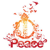 Beautiful Peace Ornamental Design Royalty Free Stock Image