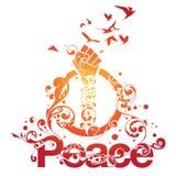 Beautiful Peace Ornamental Design. Beautiful ornamental type design with swirls and ornaments and the word Peace Royalty Free Stock Image