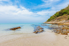 Beautiful and peaceful beach on a sunny day Stock Photography