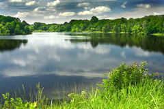A beautiful and peaceful lake Royalty Free Stock Photos