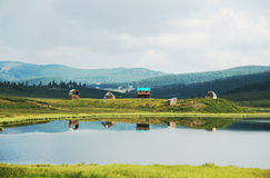 Beautiful peaceful landscape with house royalty free stock images