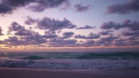 Beautiful peaceful landscape, the surf at sunset, Caribbean Islands stock video footage