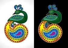 Beautiful Peacock Vector Illustration Royalty Free Stock Photo