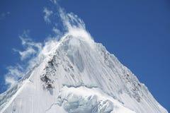 Beautiful peak Alpamayo stock photos