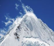 Beautiful peak Alpamayo Royalty Free Stock Photos
