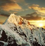 Beautiful peak Alpamayo Royalty Free Stock Image
