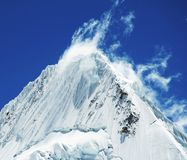 Beautiful peak Alpamayo Royalty Free Stock Photography
