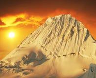 Beautiful peak Alpamayo Stock Images