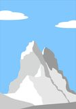 Beautiful peak in Alps. Illustration - Beautiful peak in Alps - mountain vector landscape Royalty Free Stock Image