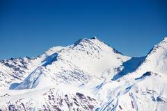 Beautiful peak view Caucasus mountains in winter Royalty Free Stock Photo