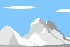 Beautiful peaks in Alps. Mountain landscape - vector illustration Stock Photography