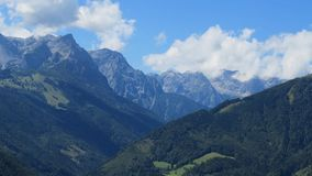 Beautiful peaks of the Alps in summer Royalty Free Stock Images