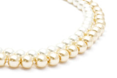 Beautiful pearl necklace stock images
