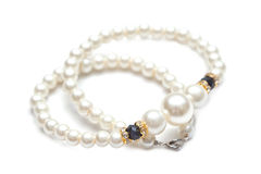 Beautiful pearl necklace Stock Image