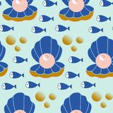 Beautiful pearls in a seamless pattern design