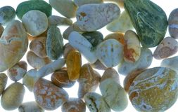 Beautiful pebble are a background Stock Images
