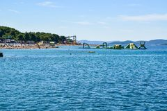 The Vodice beach, Croatia royalty free stock images