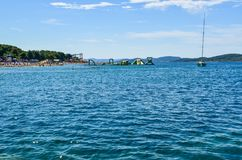 The Vodice beach, Croatia royalty free stock image