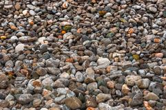 Pebble stones at the sea Stock Images