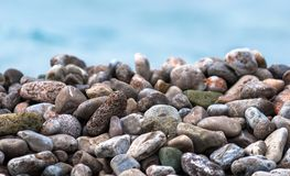 Pebble stones at the sea Stock Image