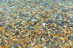 Pebble stones at the sea Royalty Free Stock Photo