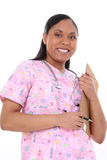 Beautiful Pediatric Nurse In Scrubs Royalty Free Stock Photos