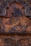 Beautiful Pediments in Banteay Srei Royalty Free Stock Photography