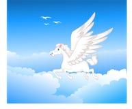 Beautiful pegasus flying Royalty Free Stock Photography