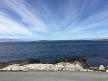 Peggy`s Cove ocean view royalty free stock image