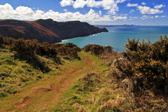 The beautiful Pembrokeshire Coastal Path Stock Image