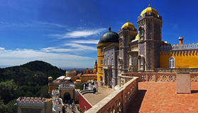 Beautiful Pena Palace in Sintra, Portugal Stock Image