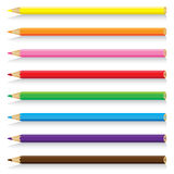 Beautiful pencil isolated on white background. Vector colorful pencil on a white background. Royalty Free Stock Images