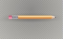 Beautiful  pencil on a transparent background.Vector illustration. Royalty Free Stock Image
