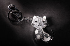 Beautiful pendant in cat shape Royalty Free Stock Photos