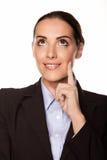 Beautiful pensive businesswoman Stock Photos