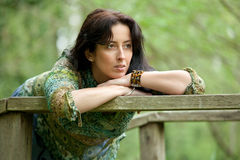 Beautiful pensive woman Royalty Free Stock Image