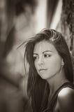 Beautiful pensive woman Stock Photography
