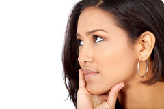 Beautiful pensive woman Royalty Free Stock Images