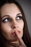 Beautiful pensive woman Royalty Free Stock Photos