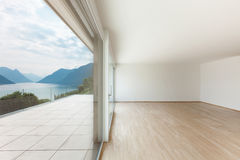Beautiful penthouse, terrace view Royalty Free Stock Image