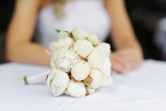 Beautiful peonies wedding bouquet Royalty Free Stock Photography