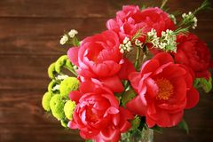 Beautiful peony flowers, closeup. Beautiful peony flowers, close up Stock Image