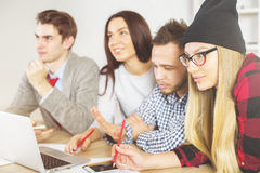 Beautiful people working together Royalty Free Stock Images
