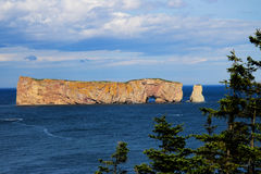 Beautiful Perce Rock view high point royalty free stock photos